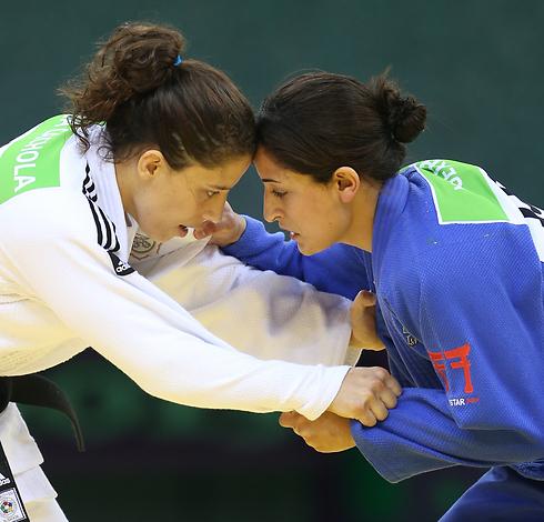 ג'רבי מול קאצו'לה. יוקו הספיק לה כדי לזכות במדליה (צילום: אורן אהרוני) (צילום: אורן אהרוני)