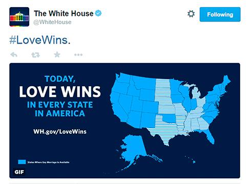 עכשיו בכל המדינות אפשר להתחתן. הבית הלבן מצייץ בשמחה (צילום: רויטרס) (צילום: רויטרס)