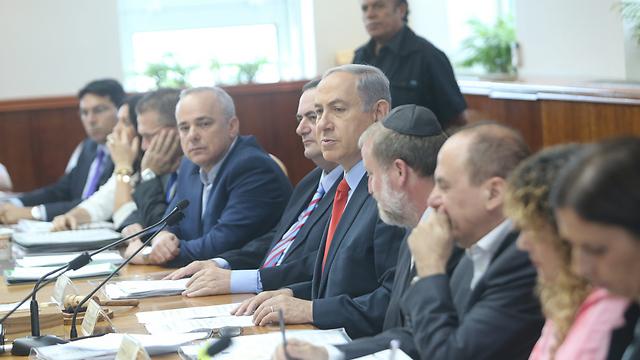 ישיבת הממשלה, הבוקר (צילום: אלכס קולומויסקי ) (צילום: אלכס קולומויסקי )