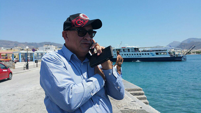 MK Basel Ghattas before boarding the 'Marianne' (Photo: Balad)