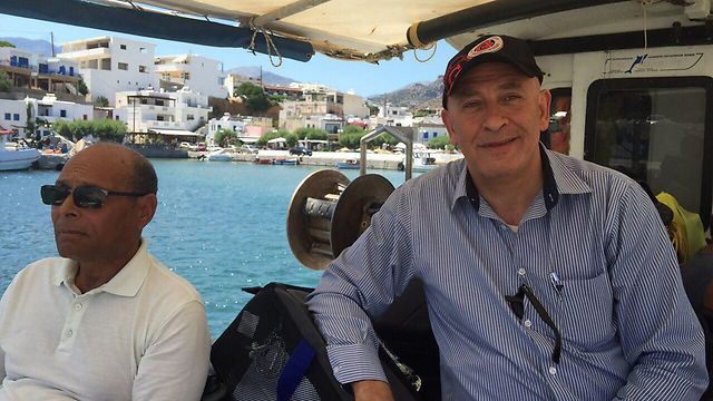 MK Ghattas on board the flotilla.