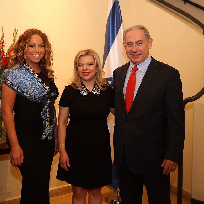 Carey with Benjamin and Sara Netanyahu