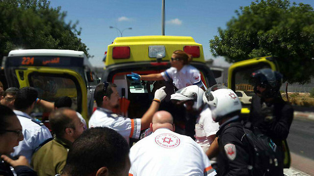 Medical staff at the scene of the attack (Photo: MDA)