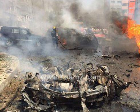 זירת הפיצוץ בקהיר ()