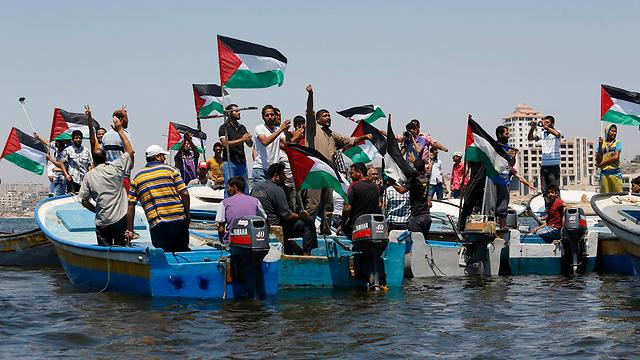 פעילי זכויות אדם פרו-פלסטינים (צילום: רויטרס) (צילום: רויטרס)