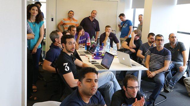 Participants in Yahoo's program at the Tel Aviv development center.