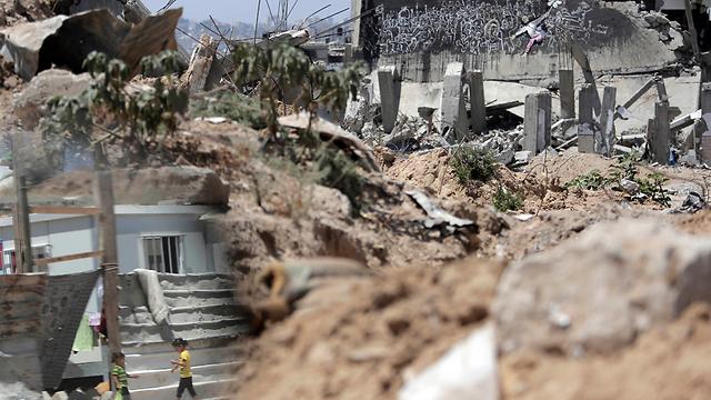 Gaza stagnant rebuild (Photo:AP)