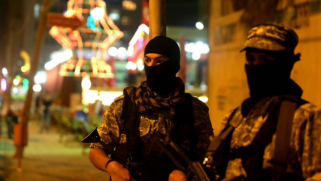 Hamas security forces (Photo:AFP)