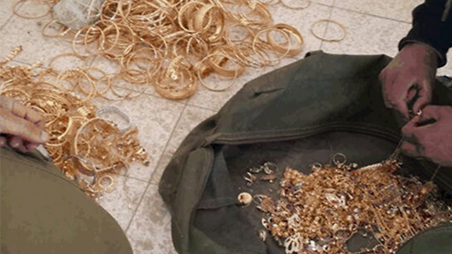 Jordanian gold used for funding (Photo: Shin Bet)
