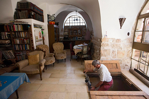 An ancient mikveh, discovered during renovations in a Jerusalem home. (Photo: EPA)