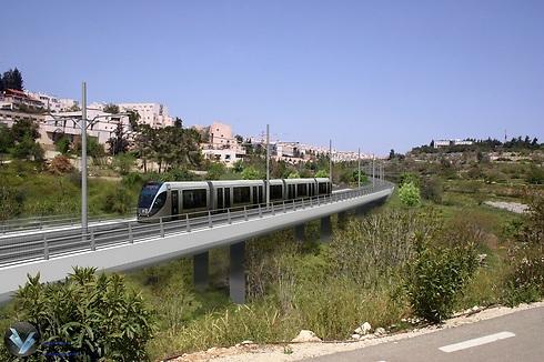 הרכבת הקלה בגבעת מרדכי (צילום הדמיה: RDV) (צילום הדמיה: RDV)