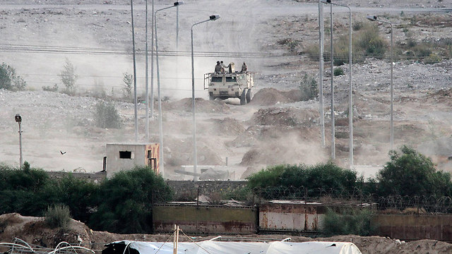 Egyptian troops near Rafah in the Sinai Peninsula (Photo: AP) (Photo: AP)