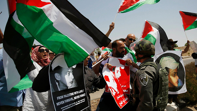 Protests in Ramallah on the one year anniversary of Aby Khdeir's murder (Photo: Reuters) (Photo: Reuters)