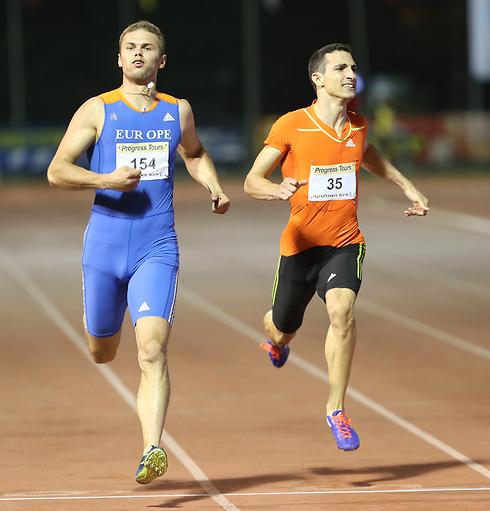 אמרי פרסיאדו מנצח ב-200 מטר (צילום: אורן אהרוני) (צילום: אורן אהרוני)