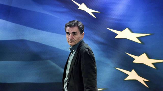 שר האוצר החדש של יוון, אוקלידס צקאלוטוס (צילום: AFP) (צילום: AFP)