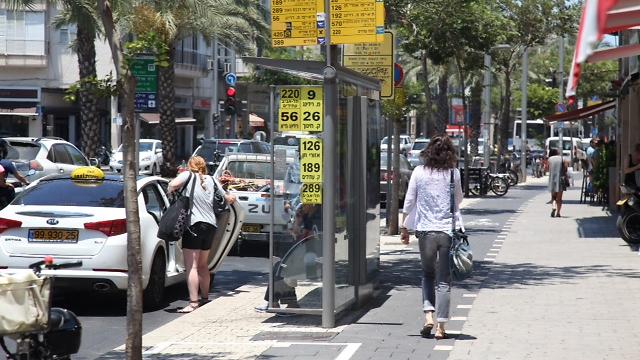 רחוב אבן גבירול בתל אביב (צילום: מוטי קמחי) (צילום: מוטי קמחי)