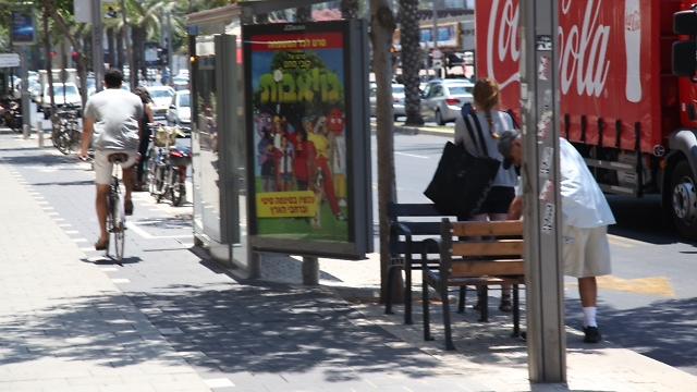 שביל לרוכבי אופניים בתל-אביב (צילום: מוטי קמחי) (צילום: מוטי קמחי)