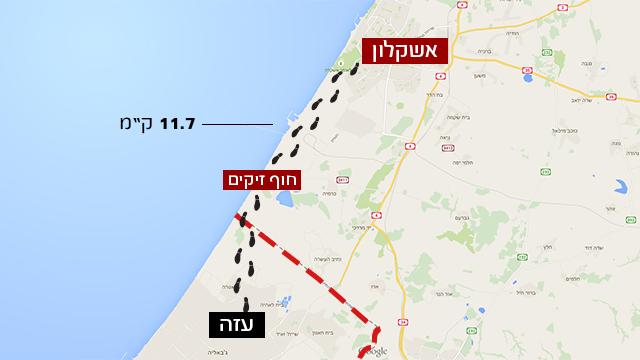 כך עשה מנגיסטו את דרכו לעזה (צילום: Google Maps) (צילום: Google Maps)