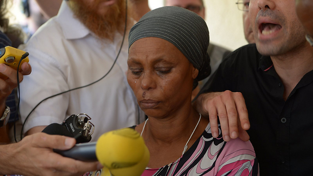 Abera Mengistu's mother (Photo: Avi Rokach)