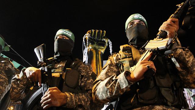 Armed Hamas operatives (Photo: MCT)