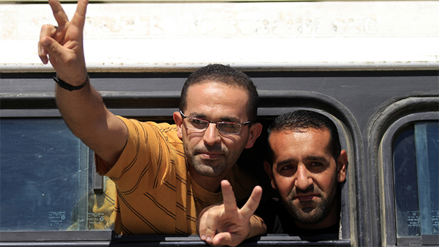 Terrorists released in the Shalit deal (Photo: AP)
