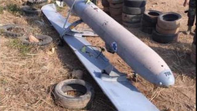 """המל""""ט שלטענת צבא לבנון התרסק בטריפולי (צילום: מתוך טוויטר) (צילום: מתוך טוויטר)"""