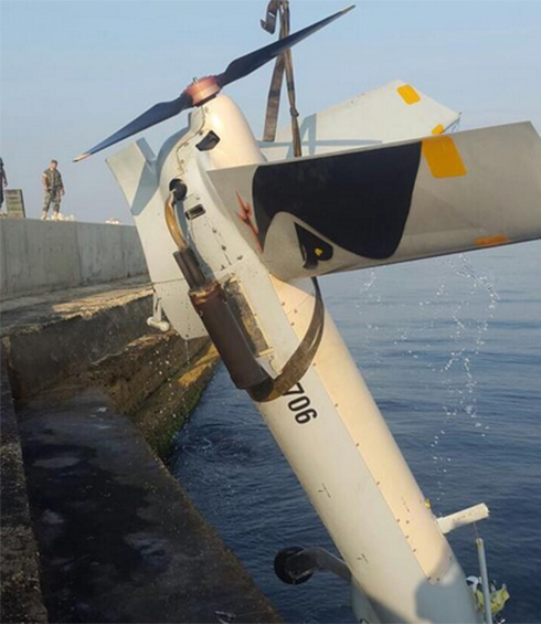 Photo posted on Lebanese army Twitter of alleged Israeli drone.