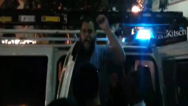 Gopstein, under arrest. (Photo: Jerusalem Stand up to Racism) (Photo: Jerusalem Stand up to Racism)