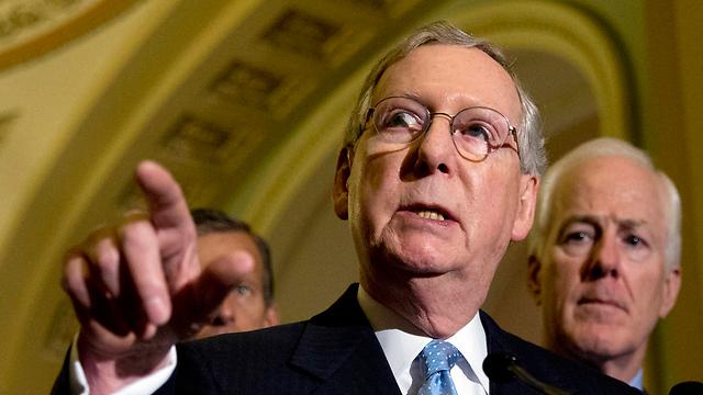 יהיה קשה למכור את ההסכם לקונגרס. הסנאטור הרפובליקני מיץ' מקונאל (צילום: AP) (צילום: AP)