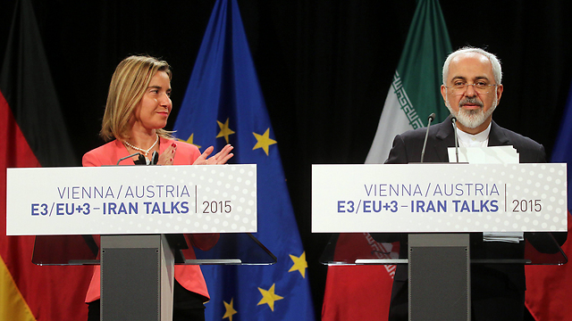 EU foreign policy chief Federica Mogherini and Iranian Foreign Minister Mohammad Javad Zarif during negotiations for the 2015 nuclear deal  (Photo: AP)