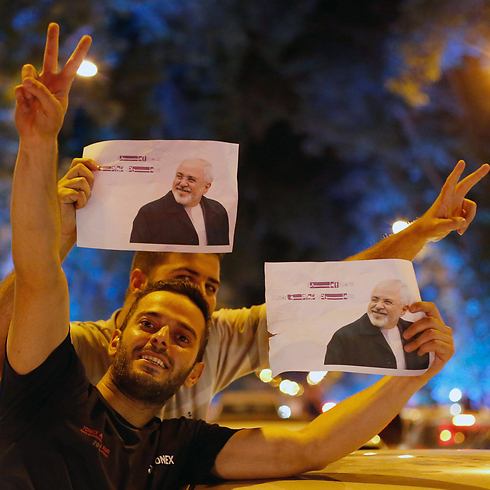 Iranians celebrating the nuclear deal in the streets of Teheran (Photo: EPA) (Photo: EPA)