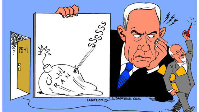 A caricature by Carlos Latuf, one of Israel's greatest detractors.