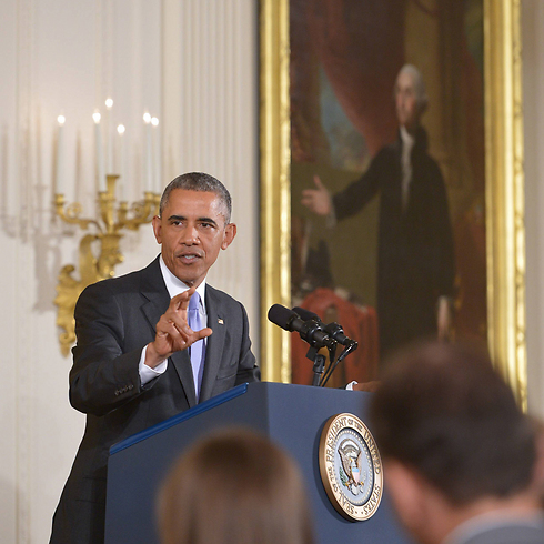 US President Barack Obama at a White House press conference after the Iran agreement (Photo: AFP)