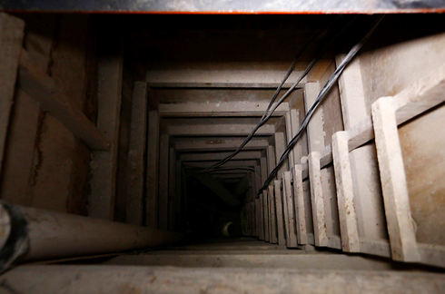 המנהרה שדרכה ברח גוסמן (צילום: רויטרס) (צילום: רויטרס)
