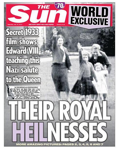 Saturday's cover of 'The Sun'.