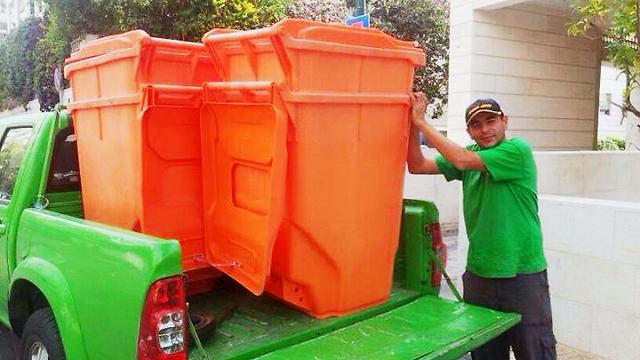Tel Aviv's new recycling bins (photo courtesy of the Tel Aviv Municipality)