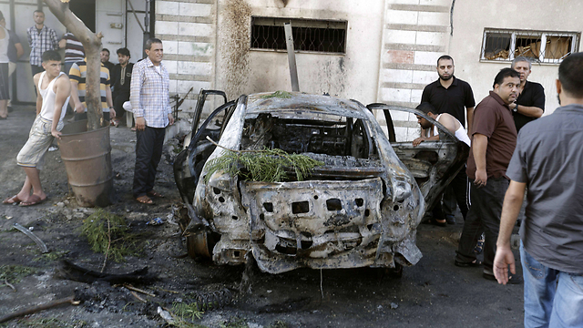 The scene of the explosion (Photo:AFP)