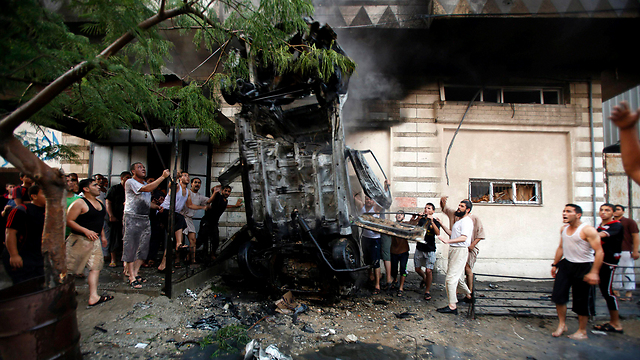The scene of the explosion (Photo:Reuters)