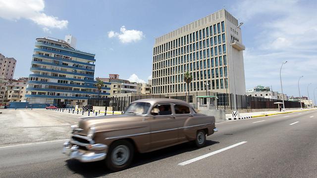 """שגרירות ארה""""ב ב-הוואנה, קובה (צילום: EPA) (צילום: EPA)"""