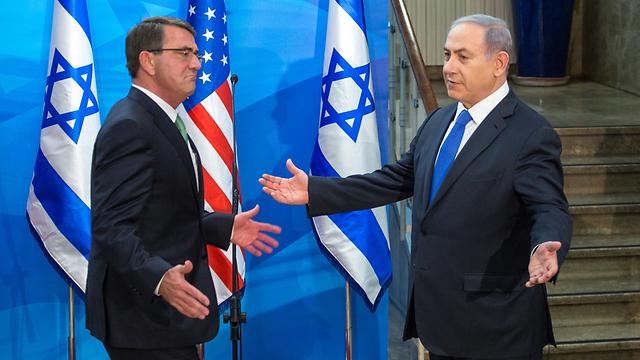 US Defense Secretary Ashton Carter with Prime Minister Benjamin Netanyahu (Photo: Emile Salman) (Photo: Emil Selman)