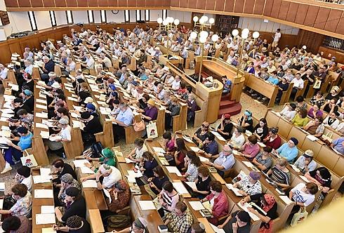 """כ-7,000 איש בימי העיון בתנ""""ך השבוע (צילום: מורג ביטן)"""