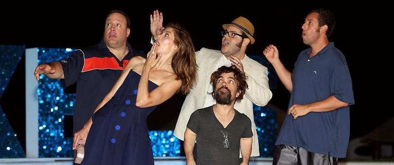 """סנדלר, גאד, דינקלג', מוינהן וג'יימס משיקים את """"פיקסלים"""" (צילום: GettyImages) (צילום: GettyImages)"""