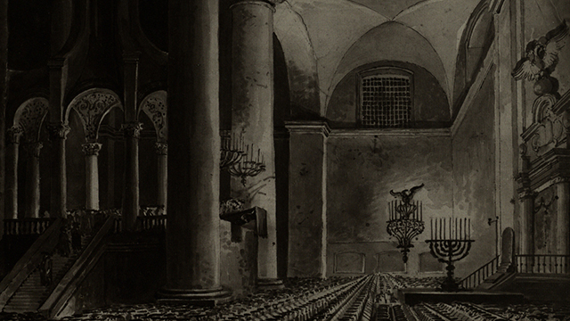 בקרוב תחל חפירה ארכיאולוגית לשחזור בית-הכנסת (צילום: Franciszek Smuglewicz) (צילום: Franciszek Smuglewicz)