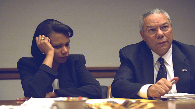 Condoleezza Rice and Colin Powell appear stunned (Photo: Reuters)