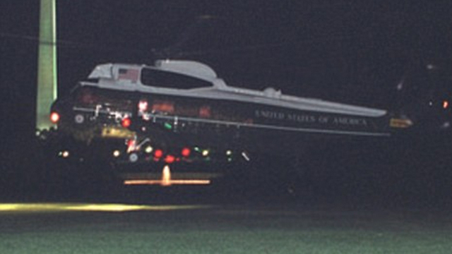 Marine One lands at the White House (Photo: US National Archives)