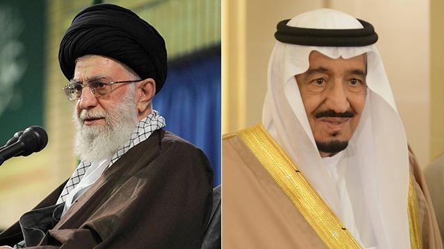 """""""משחק סכום אפס"""" עבור ריאד. מלך סעודיה (מימין) וחמינאי (צילום: MCT,AP)"""