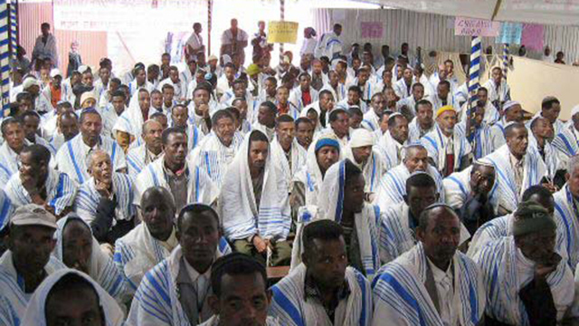 Falash Mura Ethiopians in Addis Ababa (Photo: AFP) (צילום: AFP)