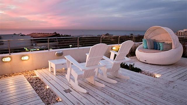 הגג במלון שלום אנד רילקס המשתתף בהורדת המחירים לחגים