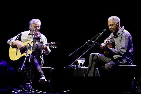 Caetano Veloso and Gilberto Gil's performance in Israel in July (Photo: Yaron Brener)