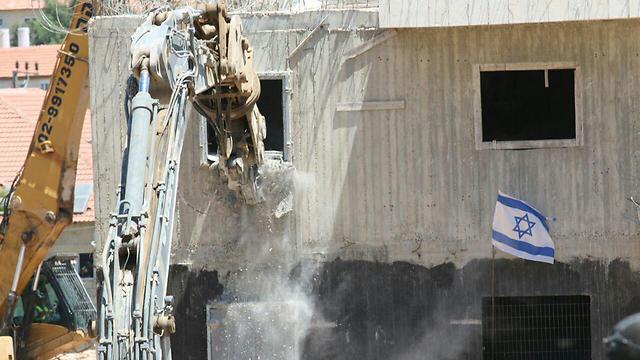 בדרך להריסה. בית אל, היום (צילום: הלל מאיר, סוכנות תצפית) (צילום: הלל מאיר, סוכנות תצפית)